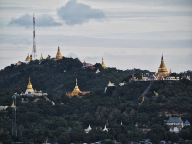 Pagodas on Sagaing Hill