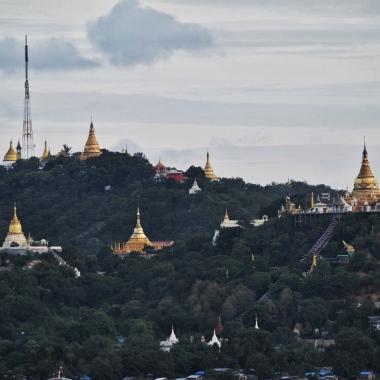 Pagodas on Sagaing Hill