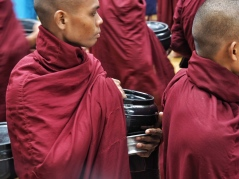 Food bowls of Maha Gandayon Monastery monks