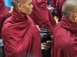 Food bowls of Maha Gandayon Monastery monks