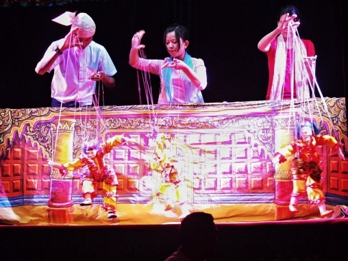 Mandalay puppeteers