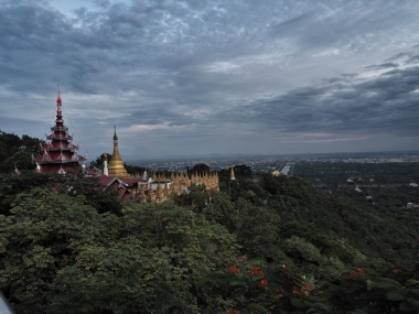 Look back at path up Mandalay Hill