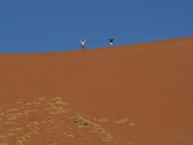 D & Kim on top of dune