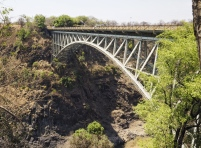 Victoria Falls Bridge which links Zimbabwe and Zambia.
