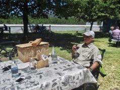 G enjoying a picnic lunch Boschendal Wine Estate