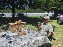 G enjoying a picnic lunch Boschendal Wine Estate