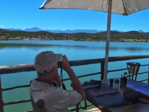 Eating lunch at Buffelsdrift Game Lodge