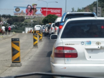 Waiting to cross the border back to SA