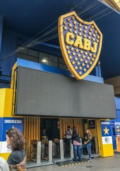 Entrance of La Bombonera