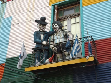 Creepy Maradona statue